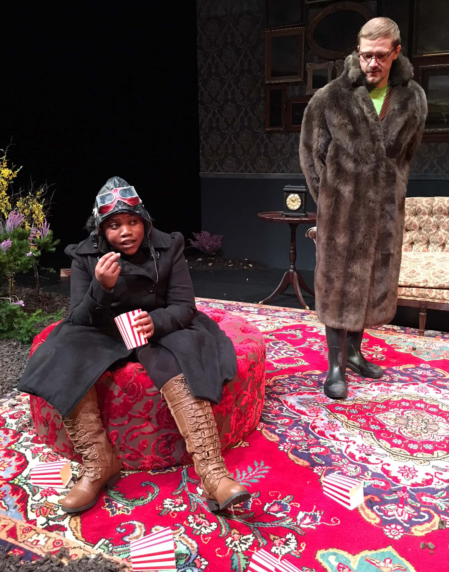 "Cast members on stage in ""The Moors"""